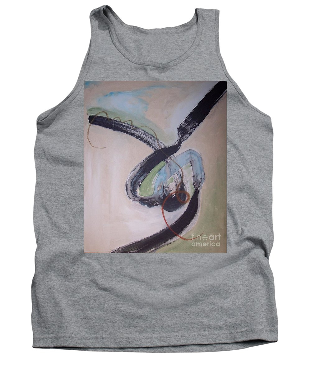 Abstract Paintings Tank Top featuring the painting Unaccustomed Thought-abstract Art by Seon-Jeong Kim