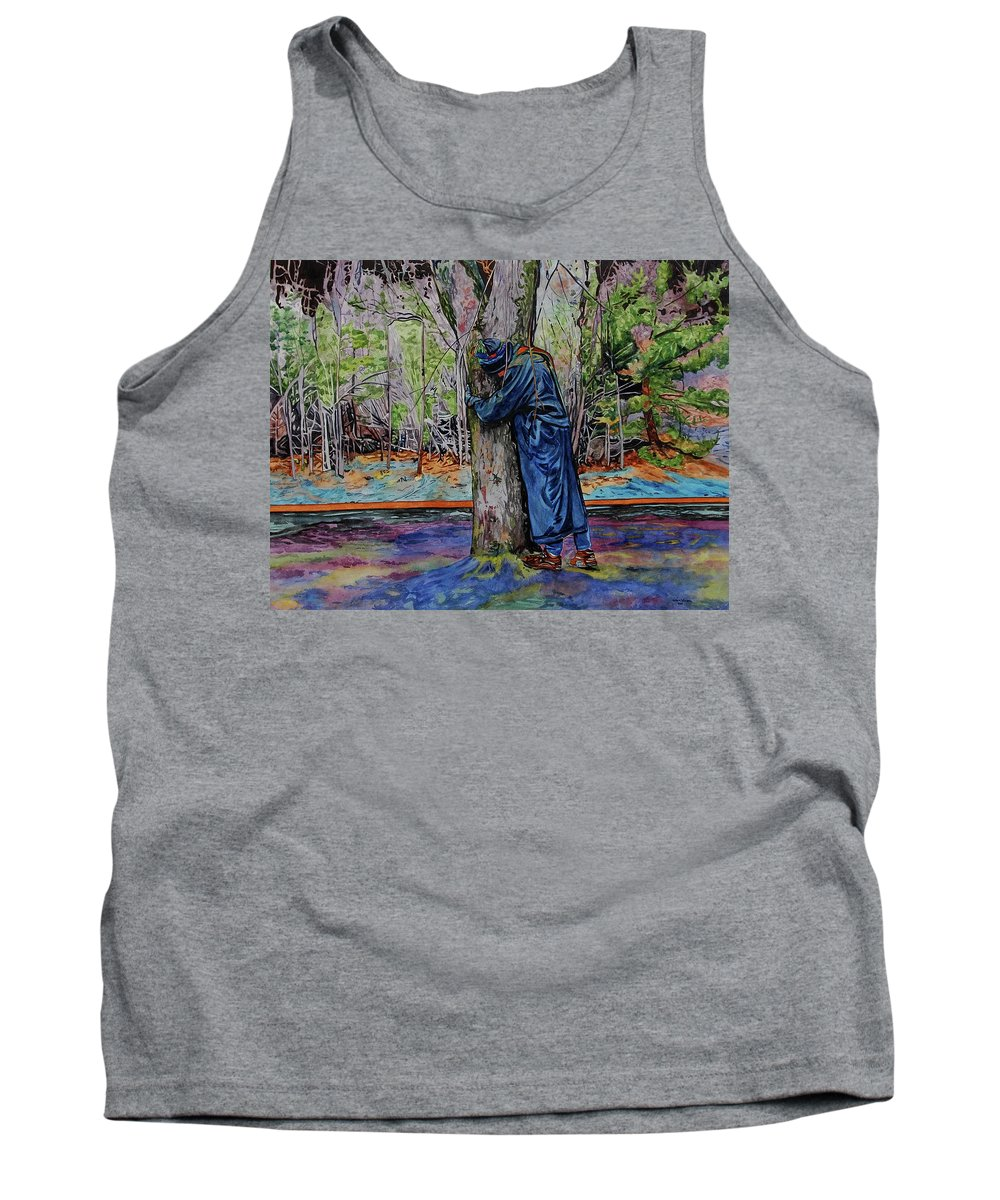 Watercolor Tank Top featuring the painting Unconditional by Valerie Patterson