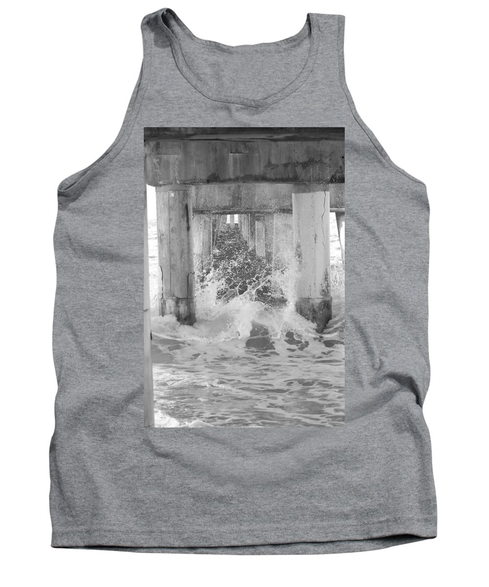 Black And White Tank Top featuring the photograph Under The Boardwalk by Rob Hans