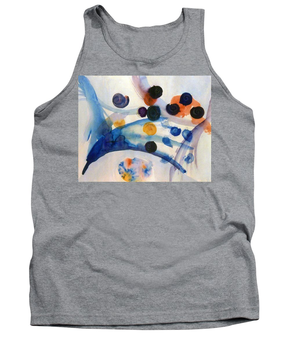 Abstract Tank Top featuring the painting Under the Sea by Steve Karol