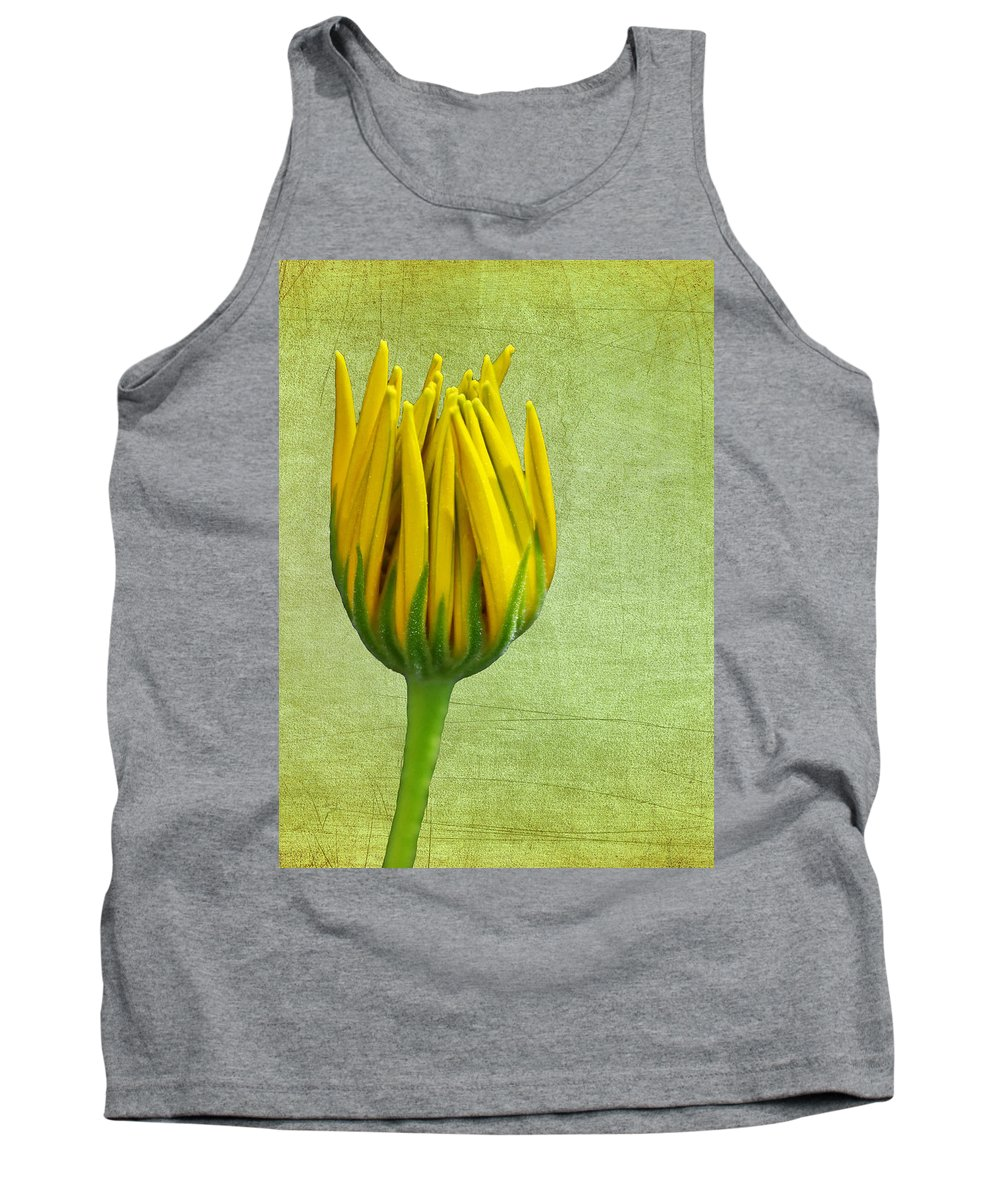 Daisy Tank Top featuring the photograph Unfolding by Judy Vincent