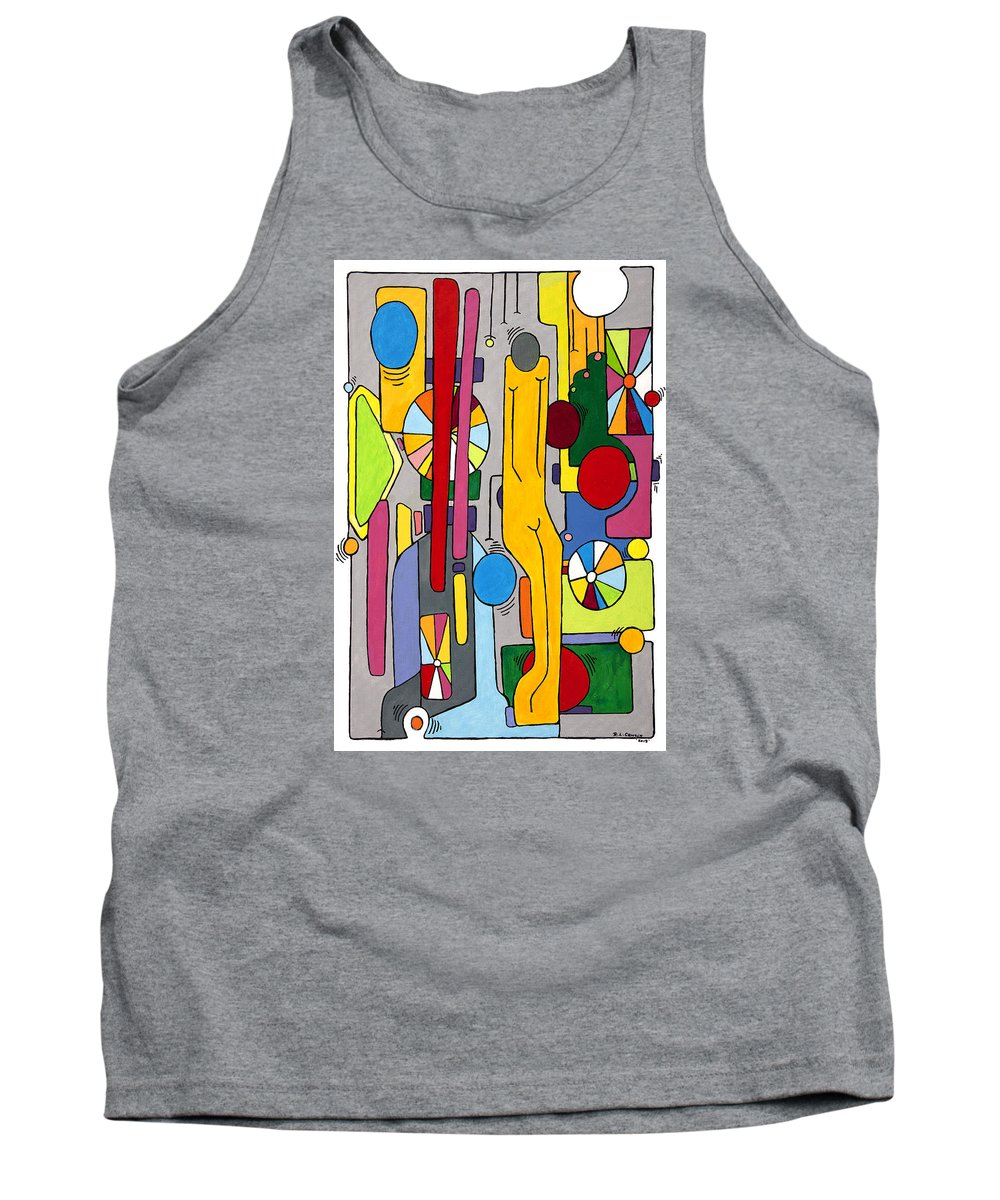 Color Tank Top featuring the painting Unknown by Robert Cawein