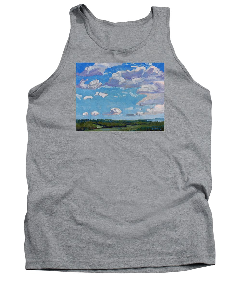 Lawrence Tank Top featuring the painting Unstable Over Burks Falls by Phil Chadwick