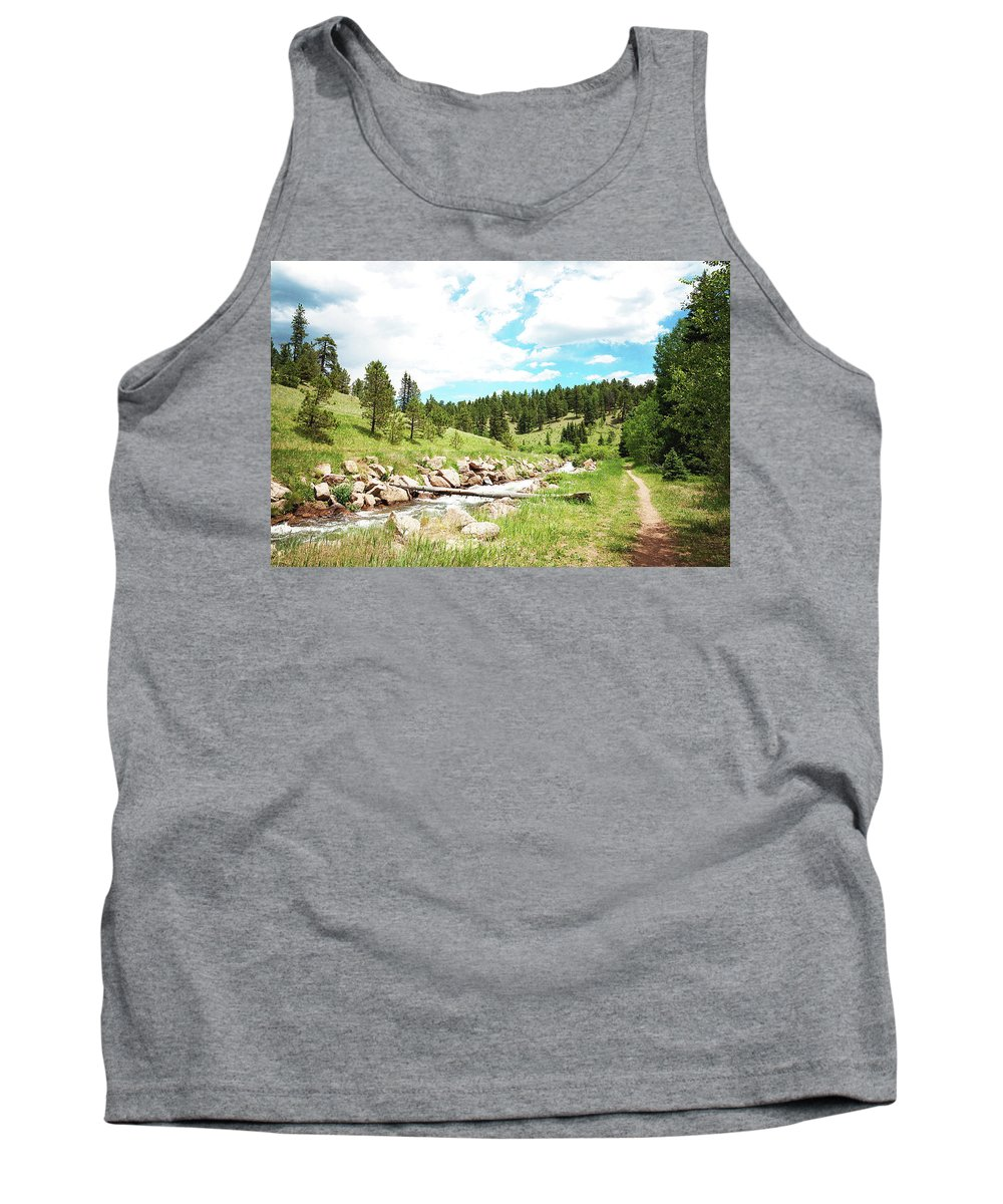 Creek Tank Top featuring the photograph Upcreek by Megan Swormstedt