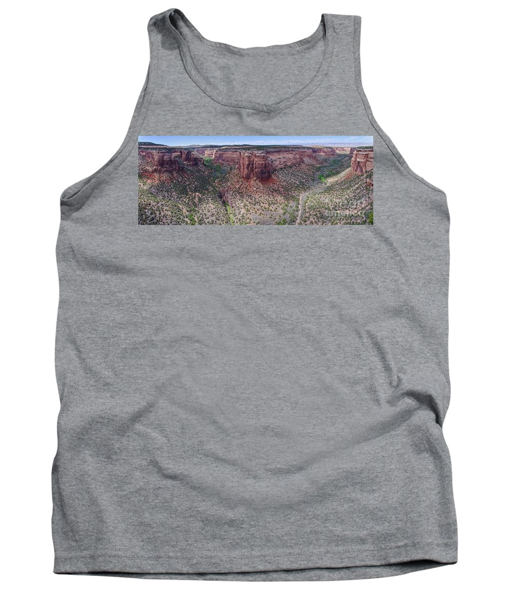 Colorado National Monument Tank Top featuring the photograph Ute Canyon by Jeff Loh