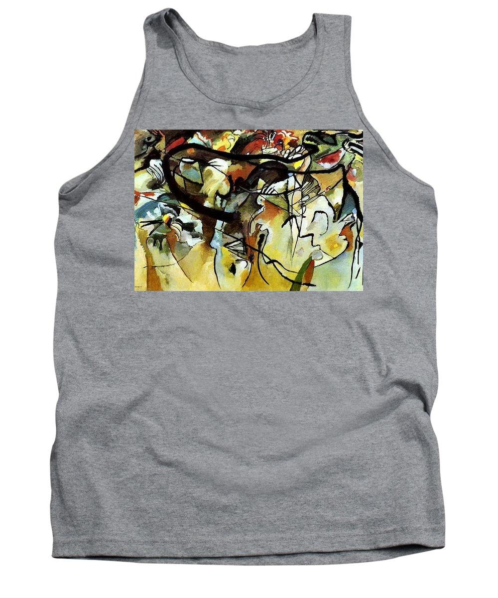 Graffito Tank Top featuring the digital art V 1911 Vasily Kandinsky by Eloisa Mannion