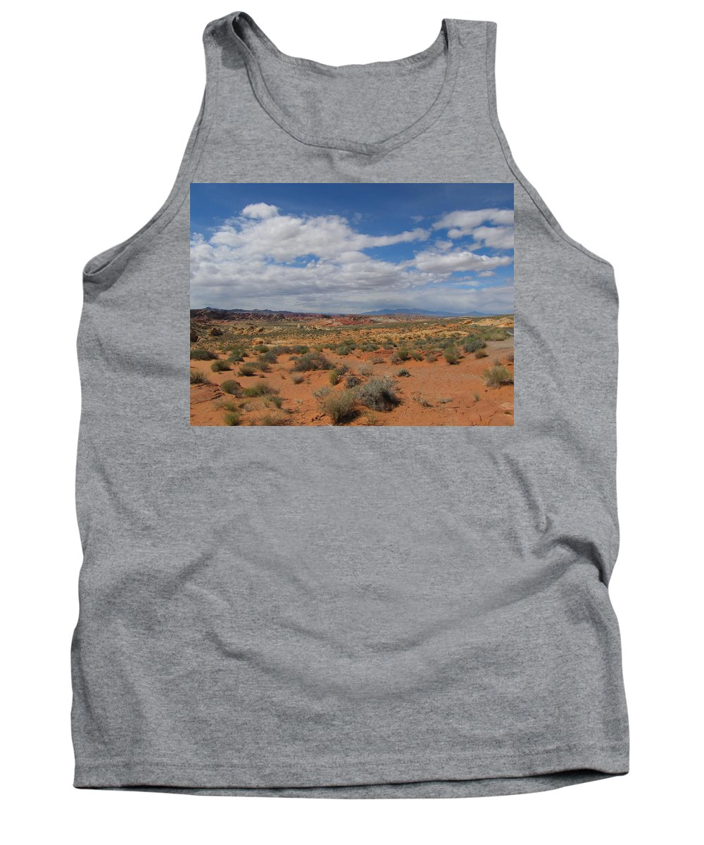 Tank Top featuring the photograph Valley Of Fire Horizon by Kelly Mezzapelle