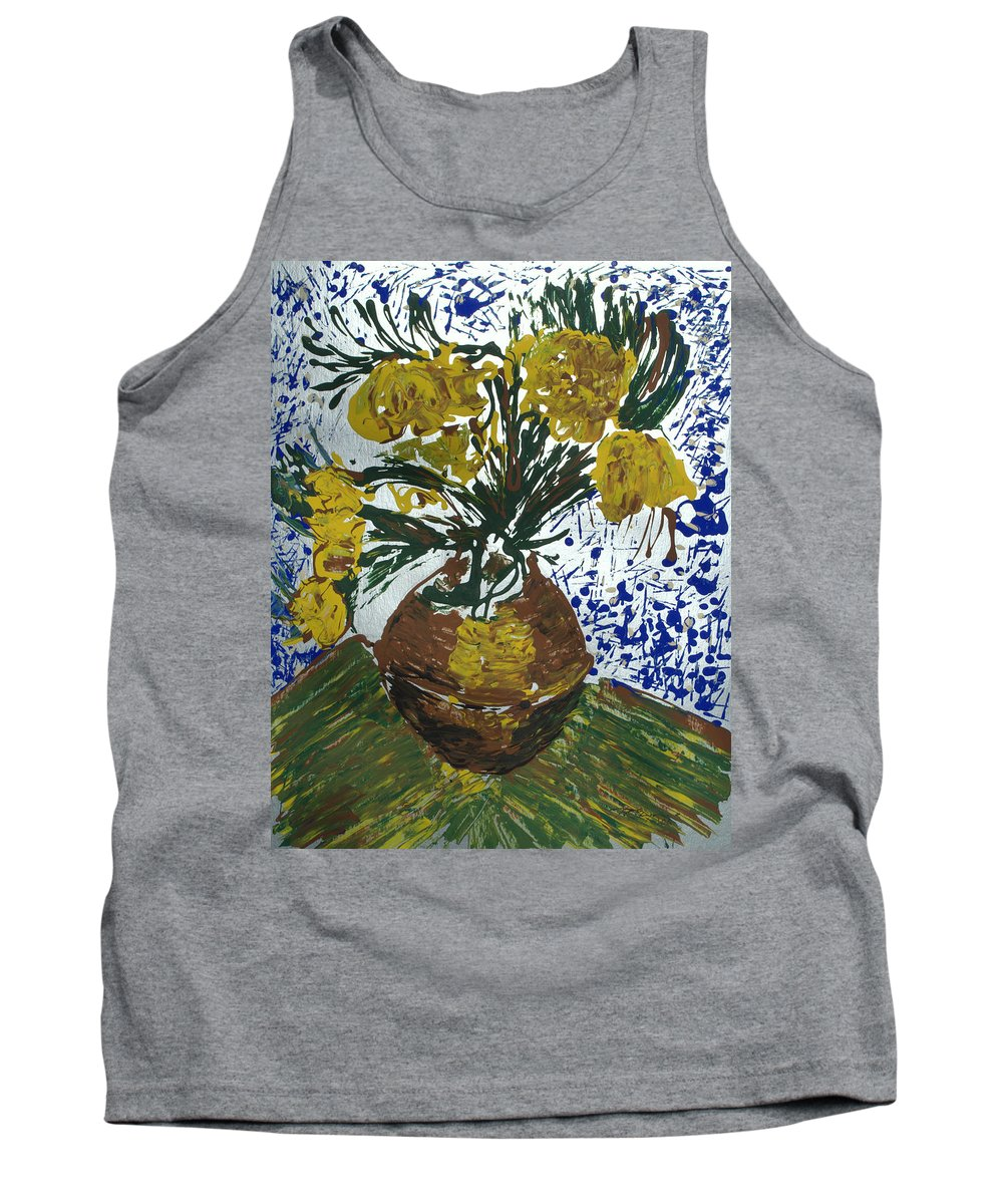 Flowers Tank Top featuring the painting Van Gogh by J R Seymour