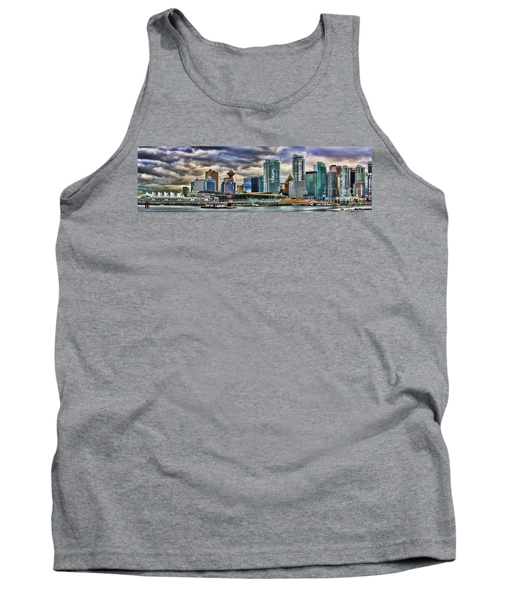 Vancouver Tank Top featuring the photograph Vancouver Skyline Hdr by Randy Harris