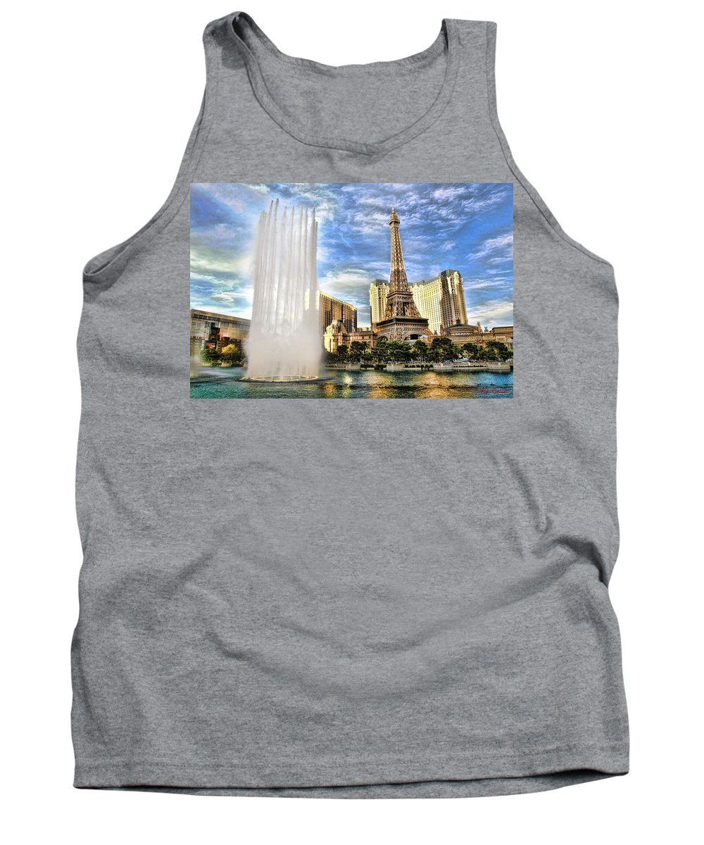 Tank Top featuring the photograph Vegas Water Show by Blake Richards