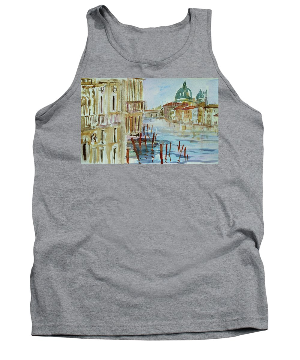 Venice Tank Top featuring the painting Venice Impression III by Xueling Zou
