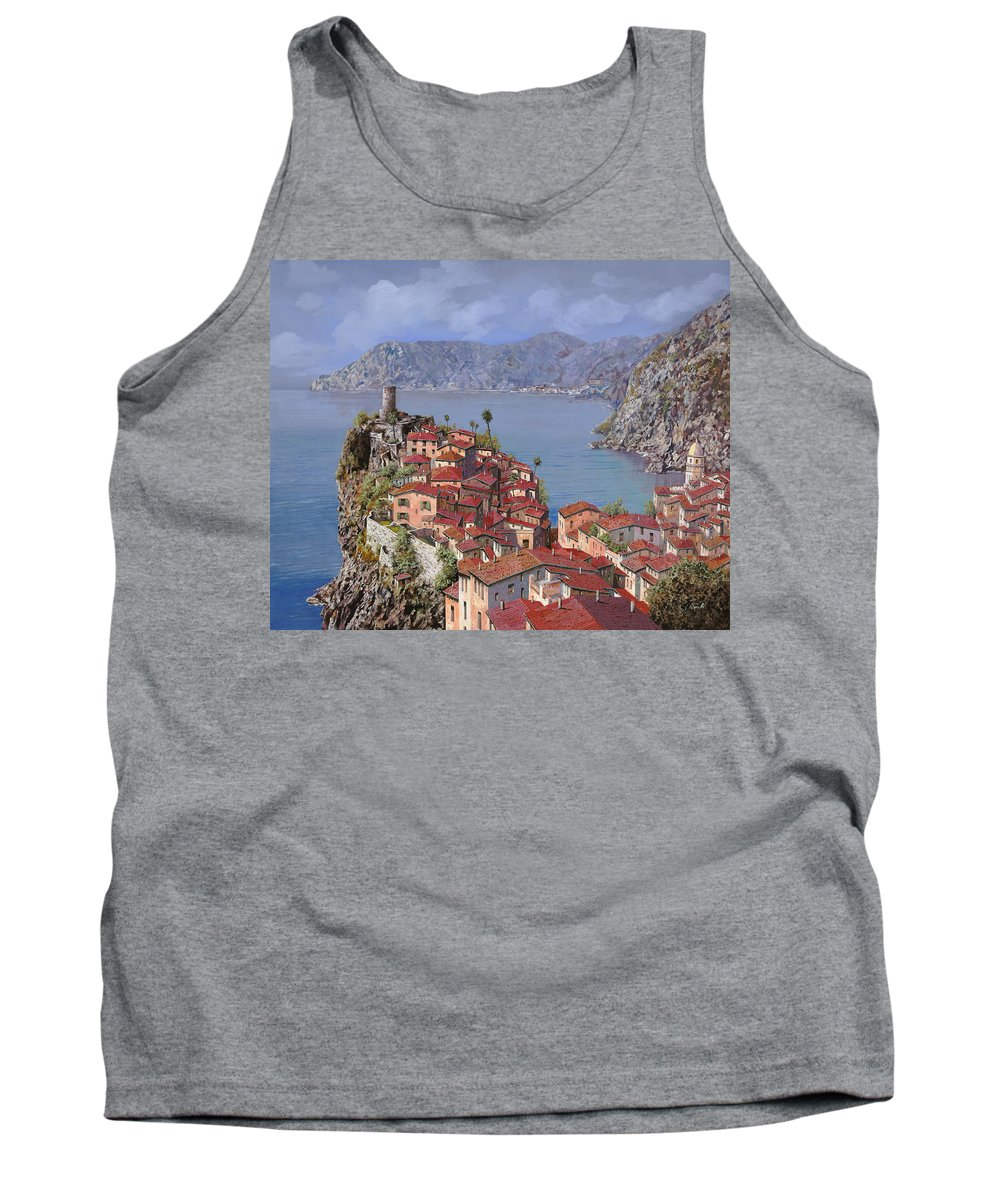 Seascapes Tank Top featuring the painting Vernazza-cinque Terre by Guido Borelli