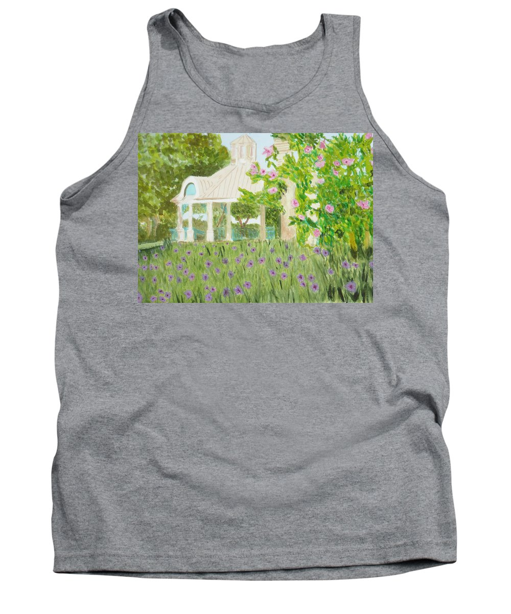 Park Tank Top featuring the painting Veteran's Park by Donna Walsh