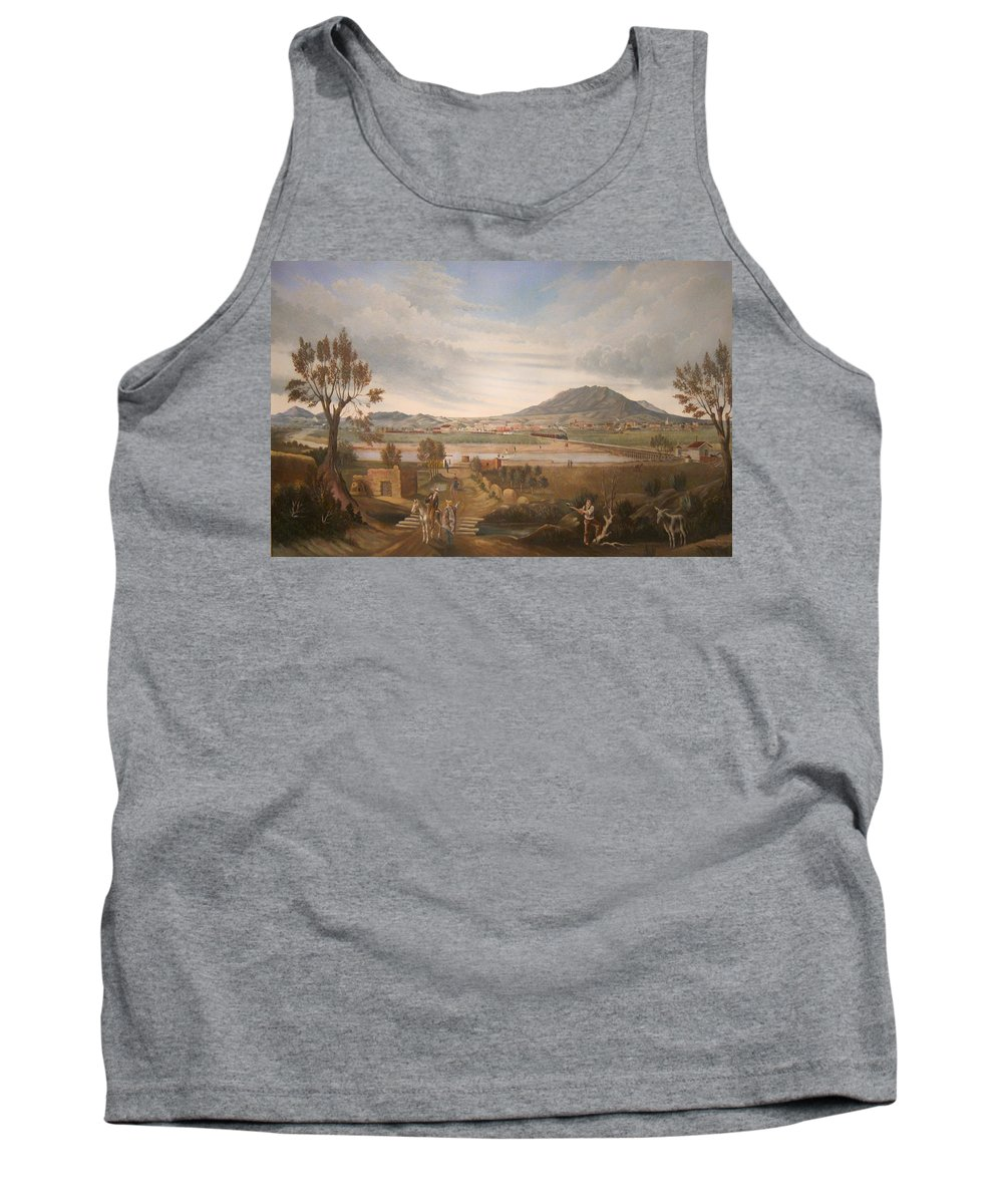 Painting Tank Top featuring the painting View Of El Paso by Mountain Dreams