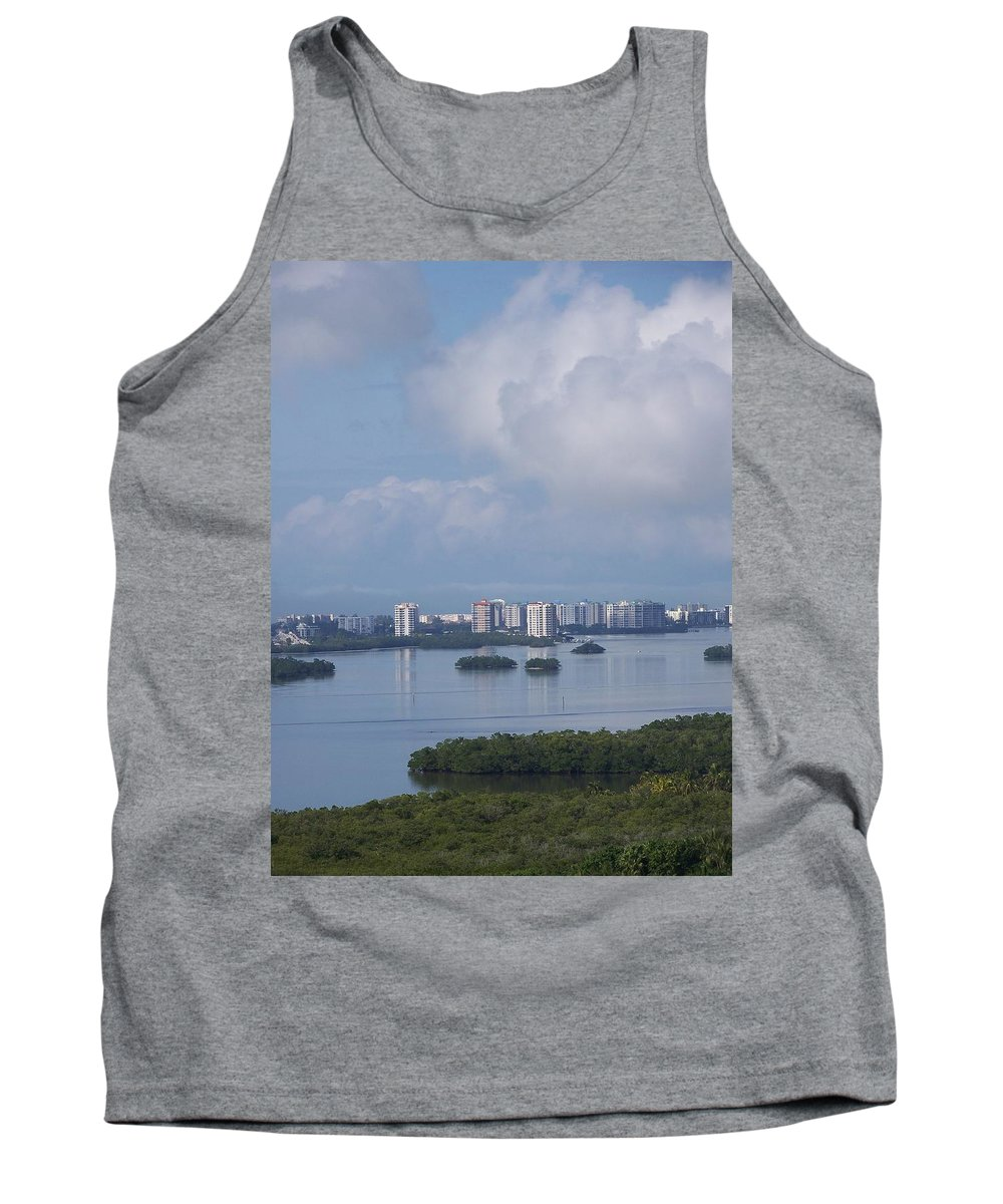 Fort Myers Beach Tank Top featuring the photograph View Of Fort Myers Beach by Laurie Paci