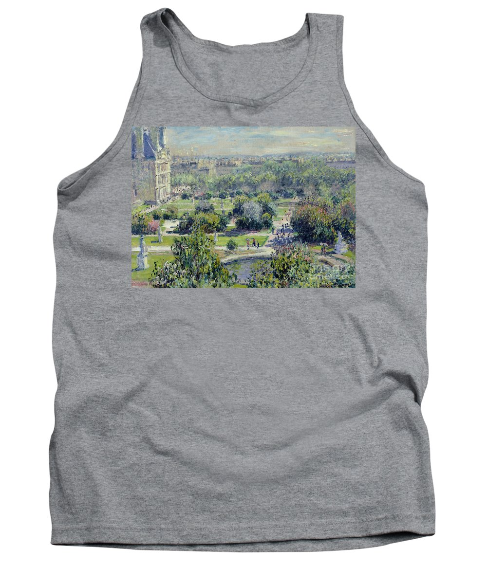 View Tank Top featuring the painting View Of The Tuileries Gardens by Claude Monet