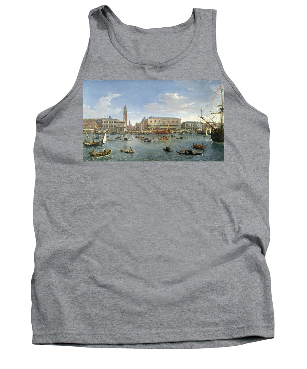 View Tank Top featuring the painting View Of Venice From The Island Of San Giorgio by Gaspar van Wittel