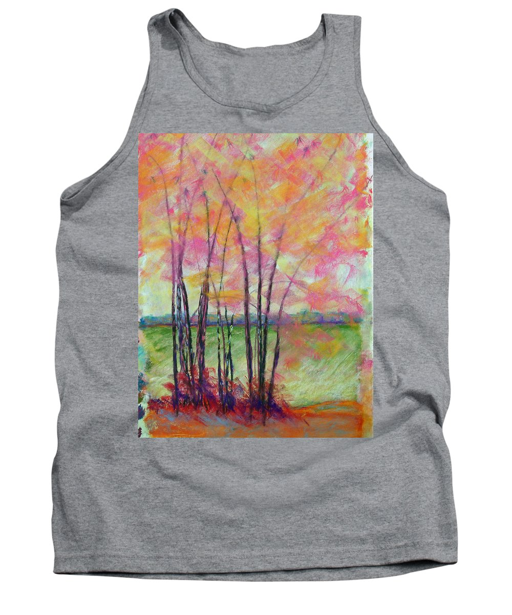 Edison Tank Top featuring the painting View Through Bamboo by Laurie Paci