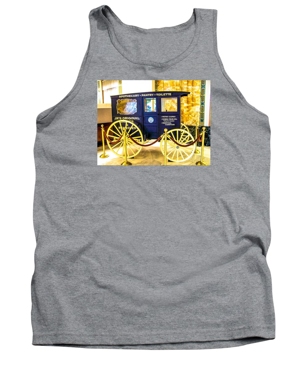 Antique Tank Top featuring the photograph Vintage Delivery Wagon by Tom Zukauskas