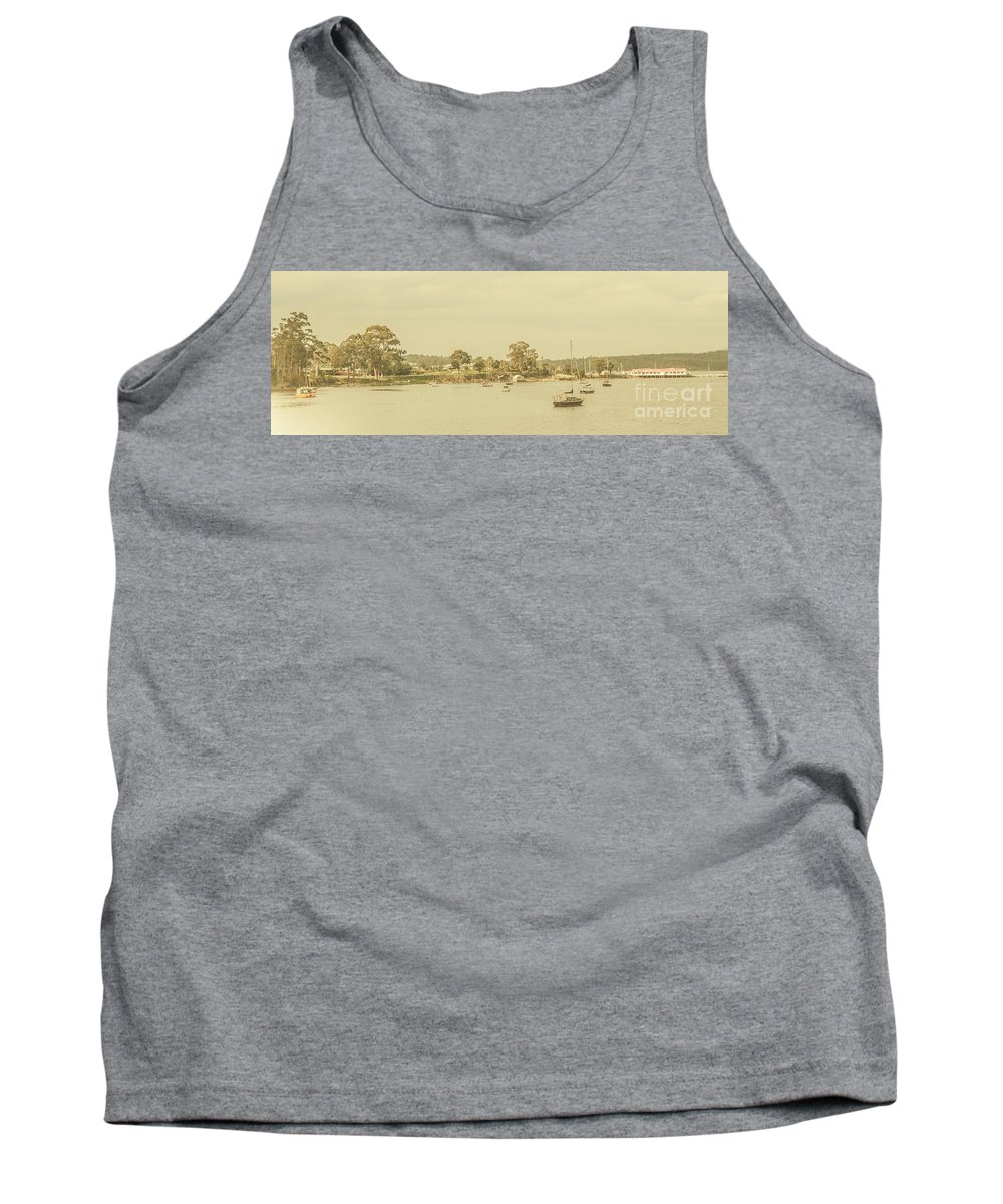 Nautical Tank Top featuring the photograph Vintage Dover Harbour Tasmania by Jorgo Photography - Wall Art Gallery