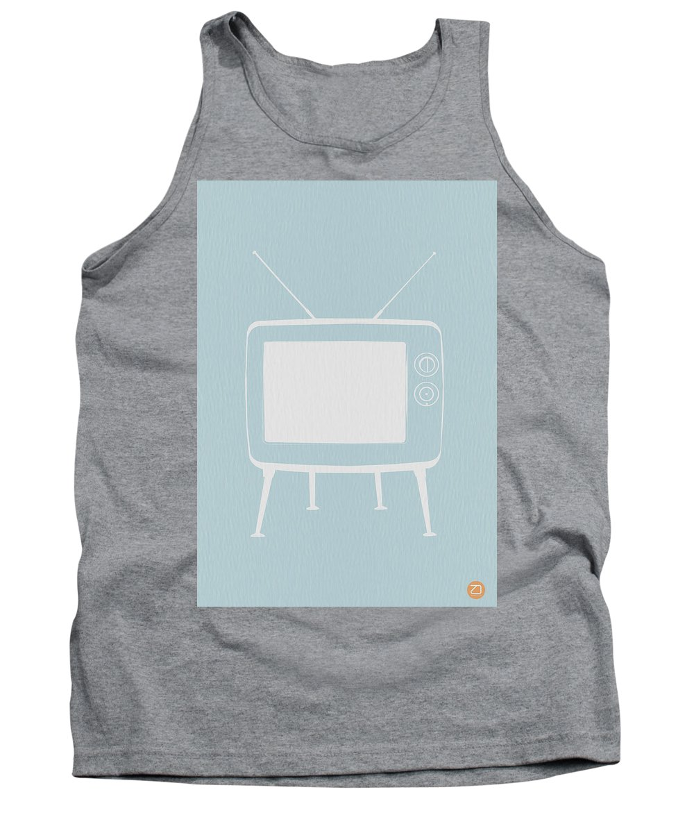 Tank Top featuring the digital art Vintage Tv Poster by Naxart Studio