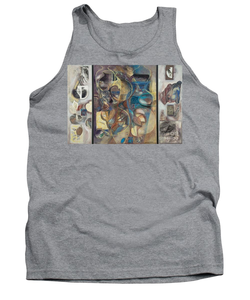 Vessels Tank Top featuring the painting Visible Traces by Kerryn Madsen-Pietsch