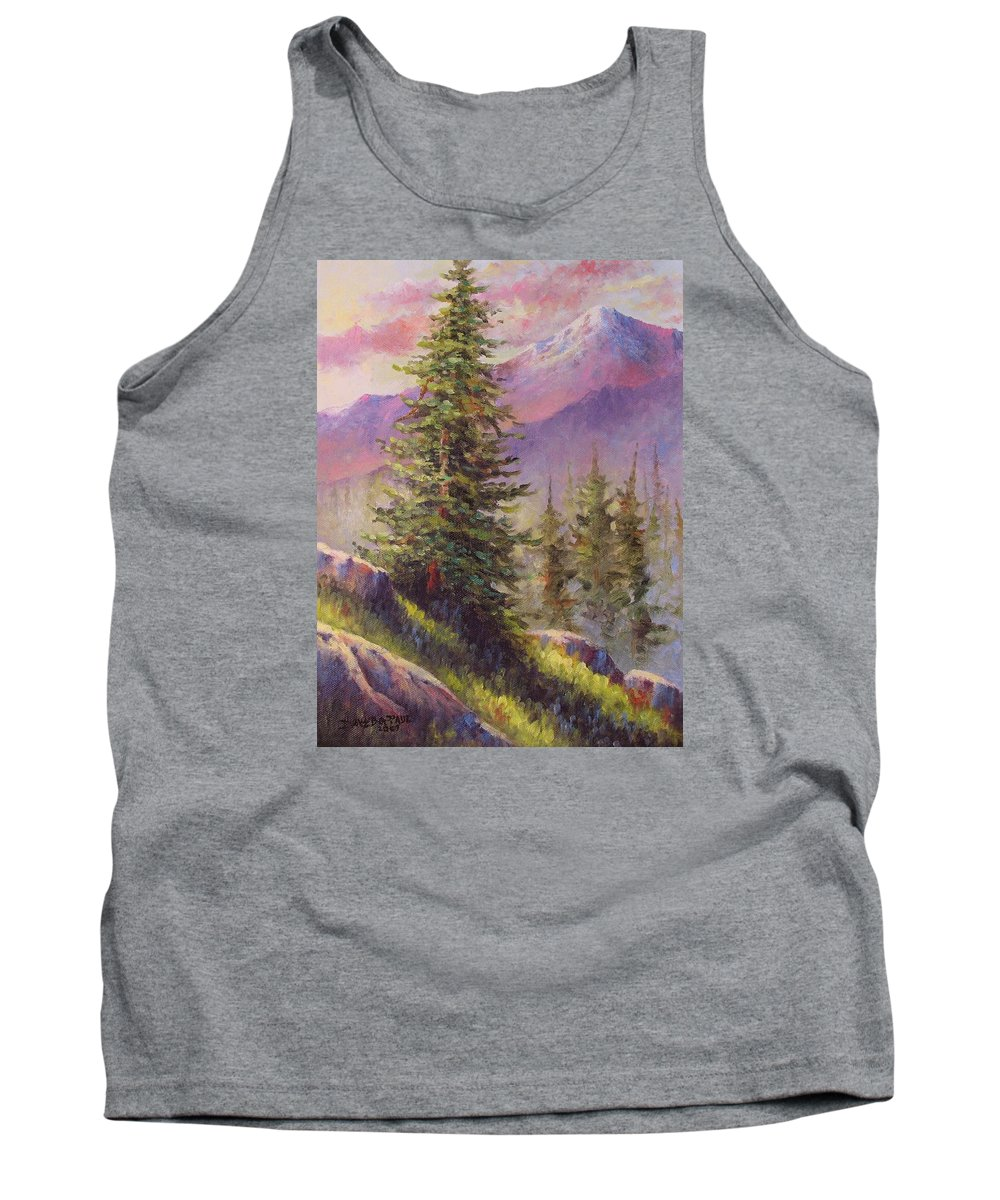 Mountain Tank Top featuring the painting Vista View by David G Paul