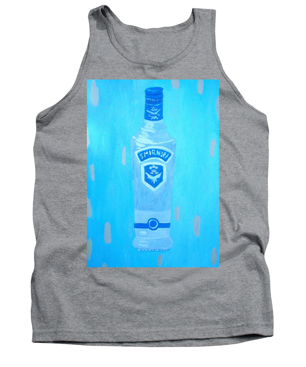 Pop Art Tank Top featuring the painting Vodka by Patrice Tullai