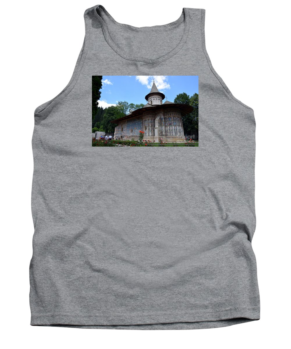 Voronet Tank Top featuring the photograph Voronet Monastery by Camelia C
