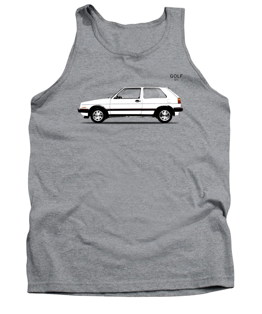 Vw Golf Tank Top featuring the photograph Vw Golf Gti by Mark Rogan