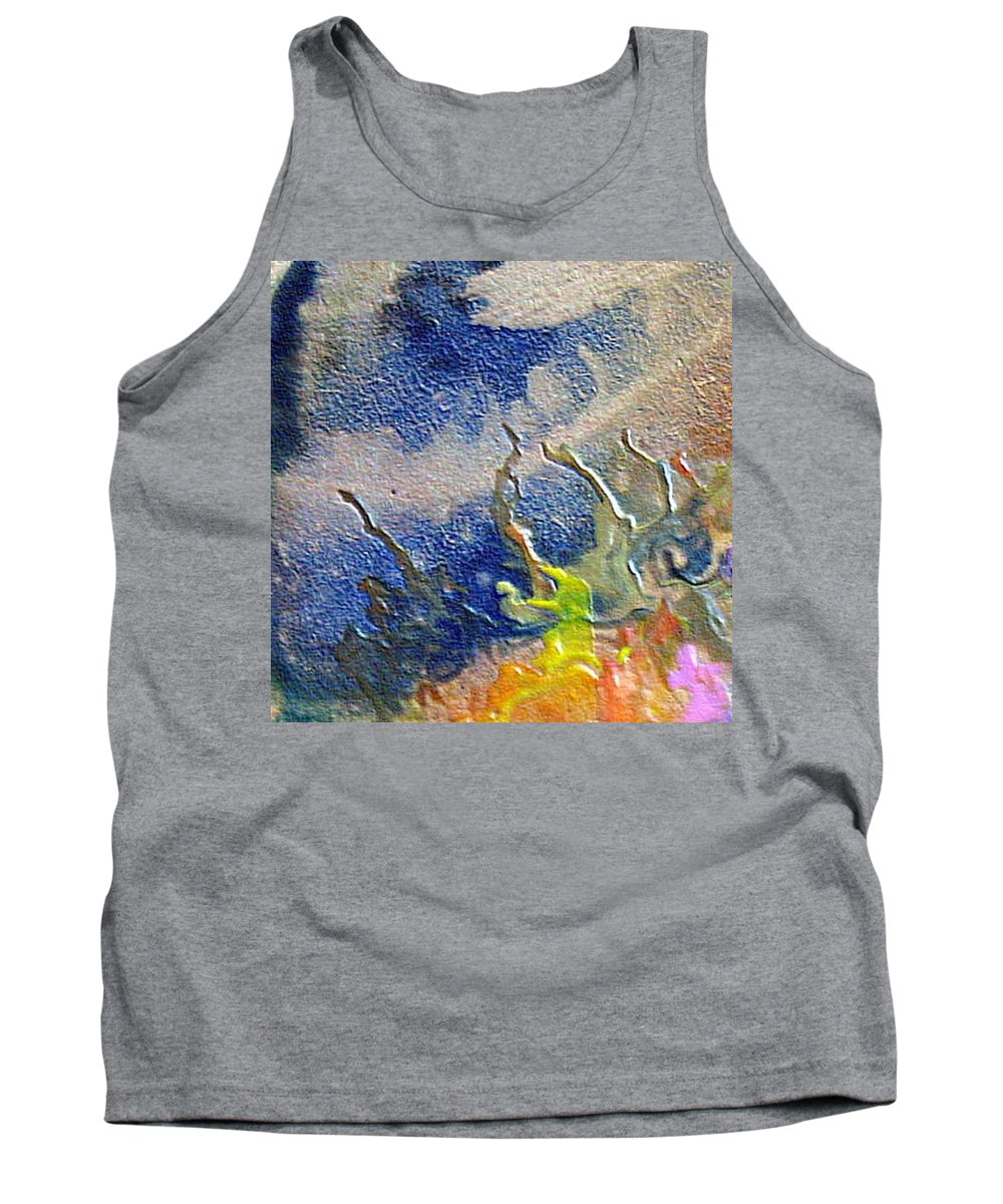 Coral Tank Top featuring the painting W 020 - The Coral by Dragica Micki Fortuna