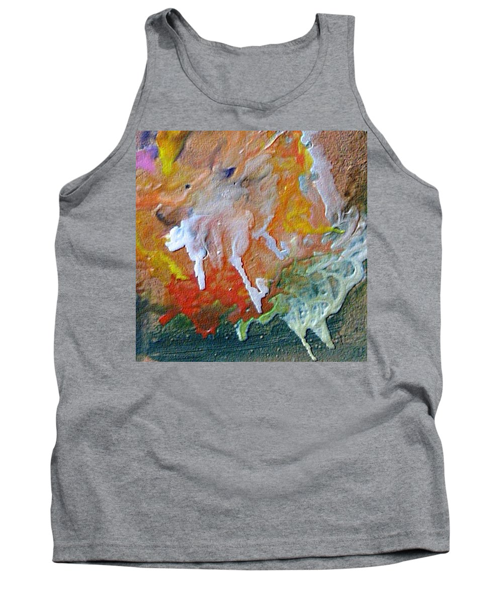 Abstract Tank Top featuring the painting W 025 by Dragica Micki Fortuna