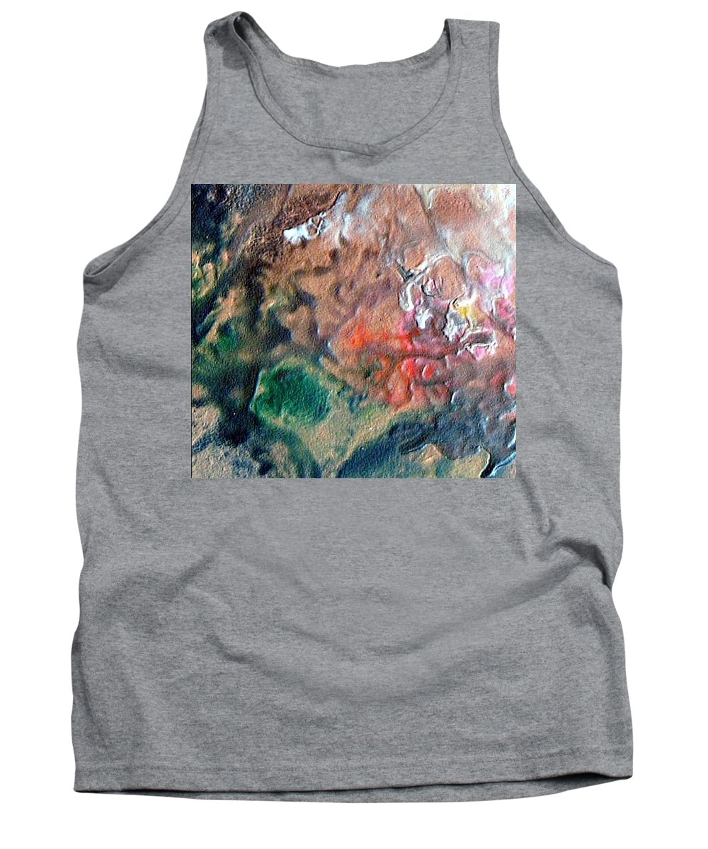 Tide Tank Top featuring the painting W 042 by Dragica Micki Fortuna