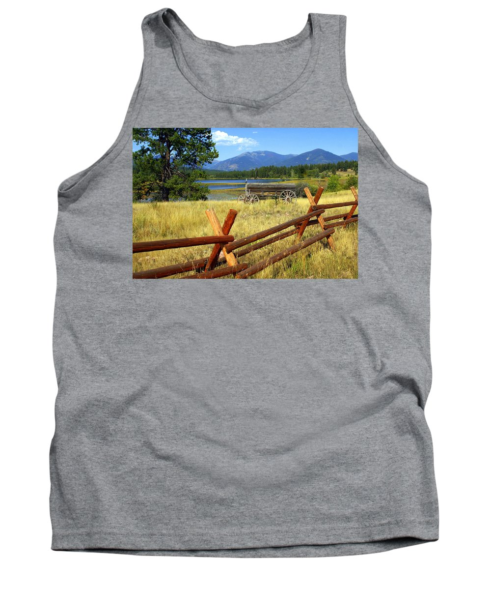 Landscape Tank Top featuring the photograph Wagon West by Marty Koch