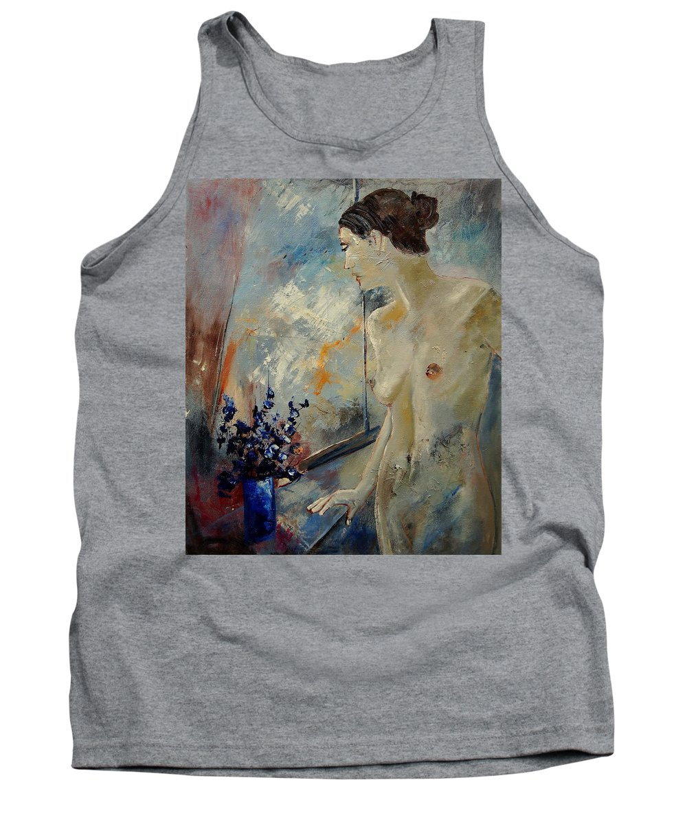 Girl Tank Top featuring the painting Waiting For Her Lover by Pol Ledent