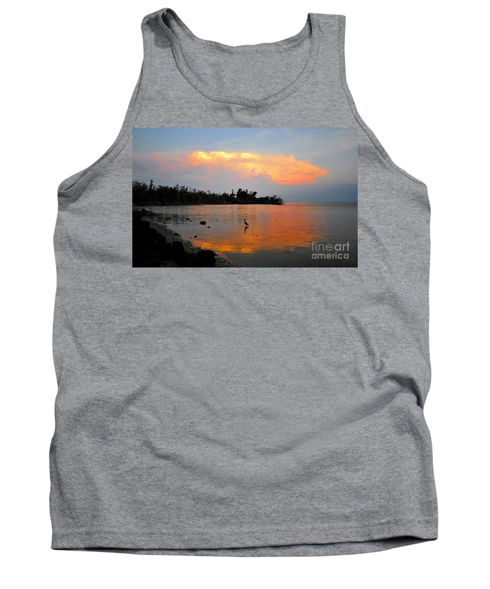 Bird.fine Art Tank Top featuring the photograph Waiting In The Gulf by David Lee Thompson