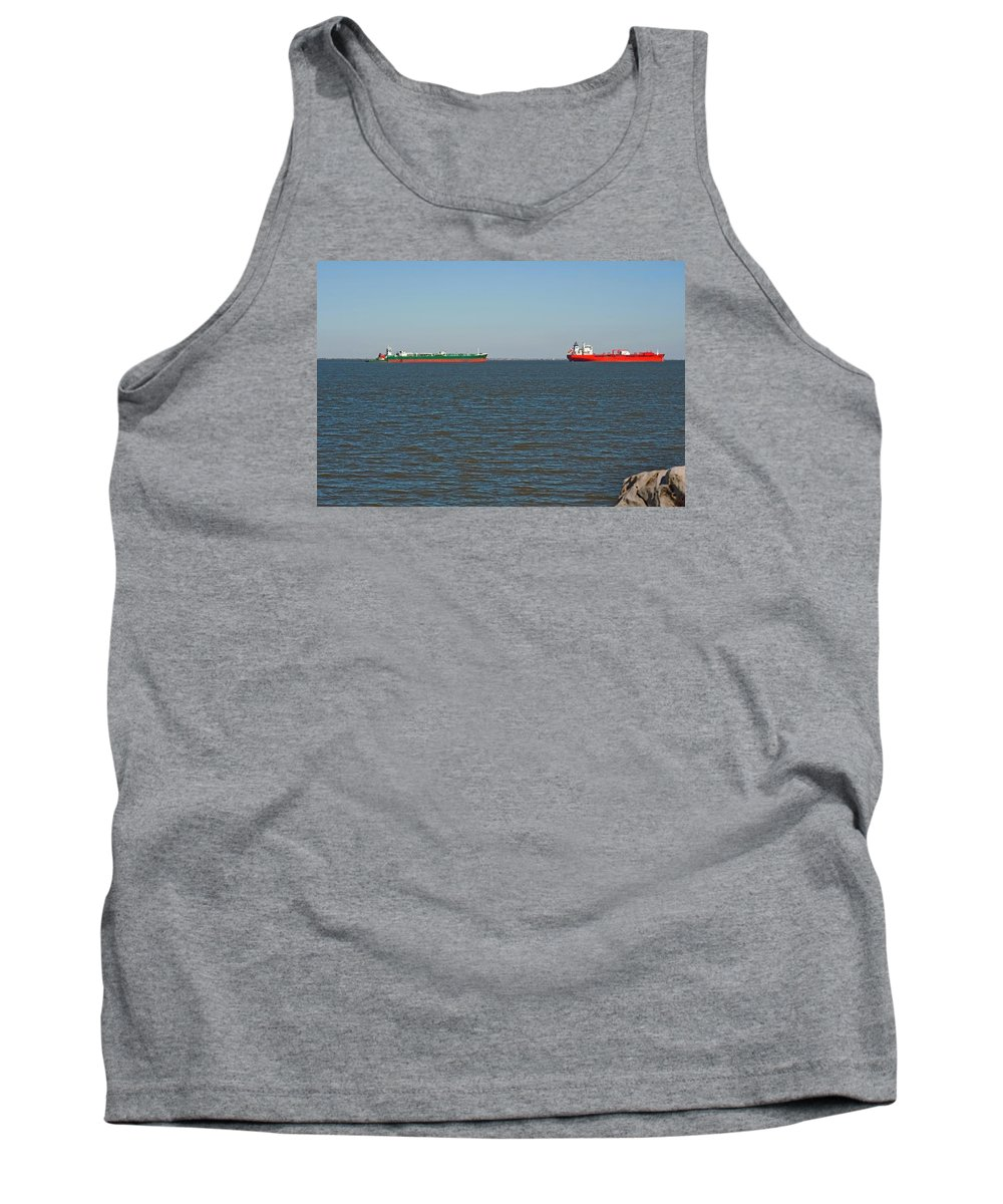 Barge Tank Top featuring the photograph Waiting by Robert Brown