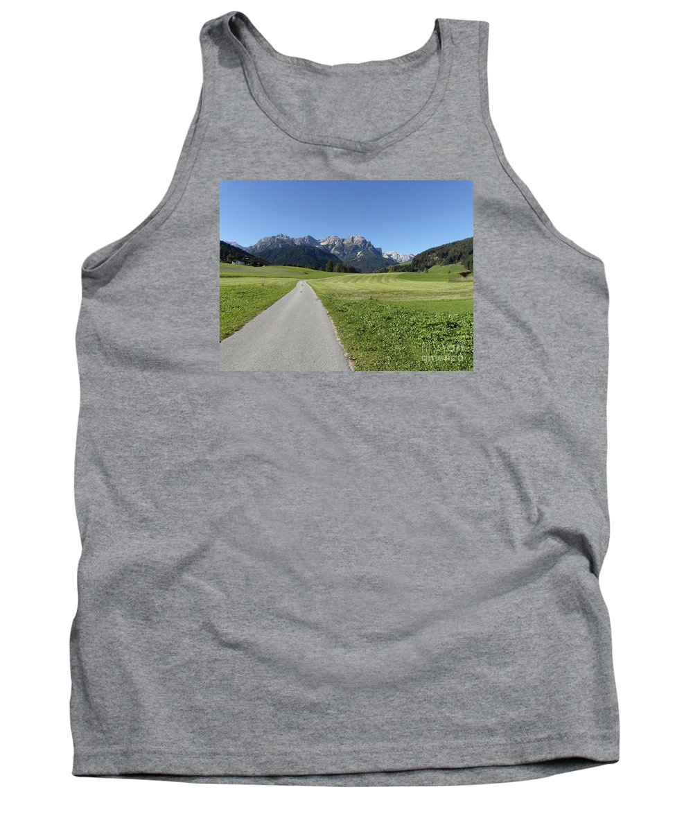 Walking Tank Top featuring the photograph Walking To Niederdorf In The Dolomites by Quintin Rayer