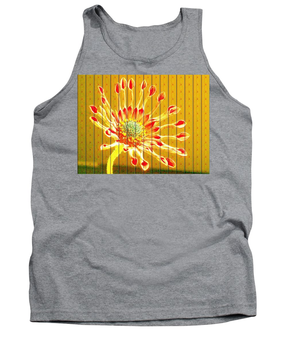 Flower Tank Top featuring the photograph Wall Flower by Tim Allen