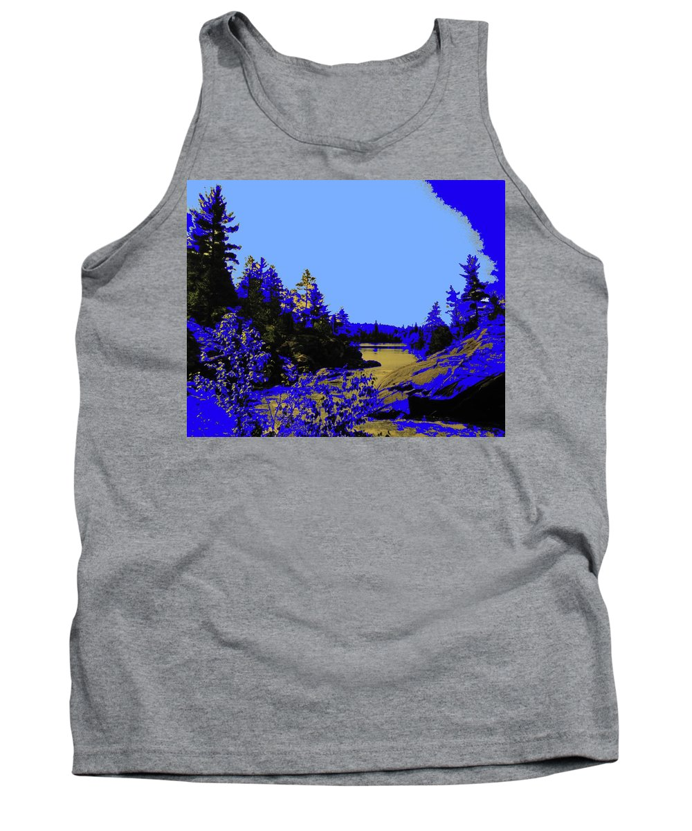 Northern Tank Top featuring the photograph Wanapitae River Morning by Ian MacDonald