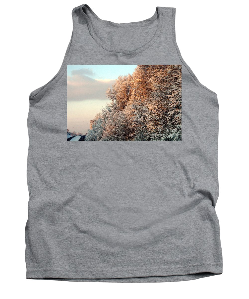 Clay Tank Top featuring the photograph Warm Light Snow by Clayton Bruster