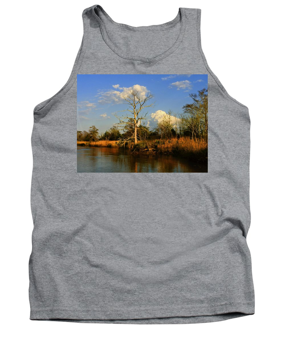 Weather Tank Top featuring the photograph Warm Weather Clouds by Laura Ragland
