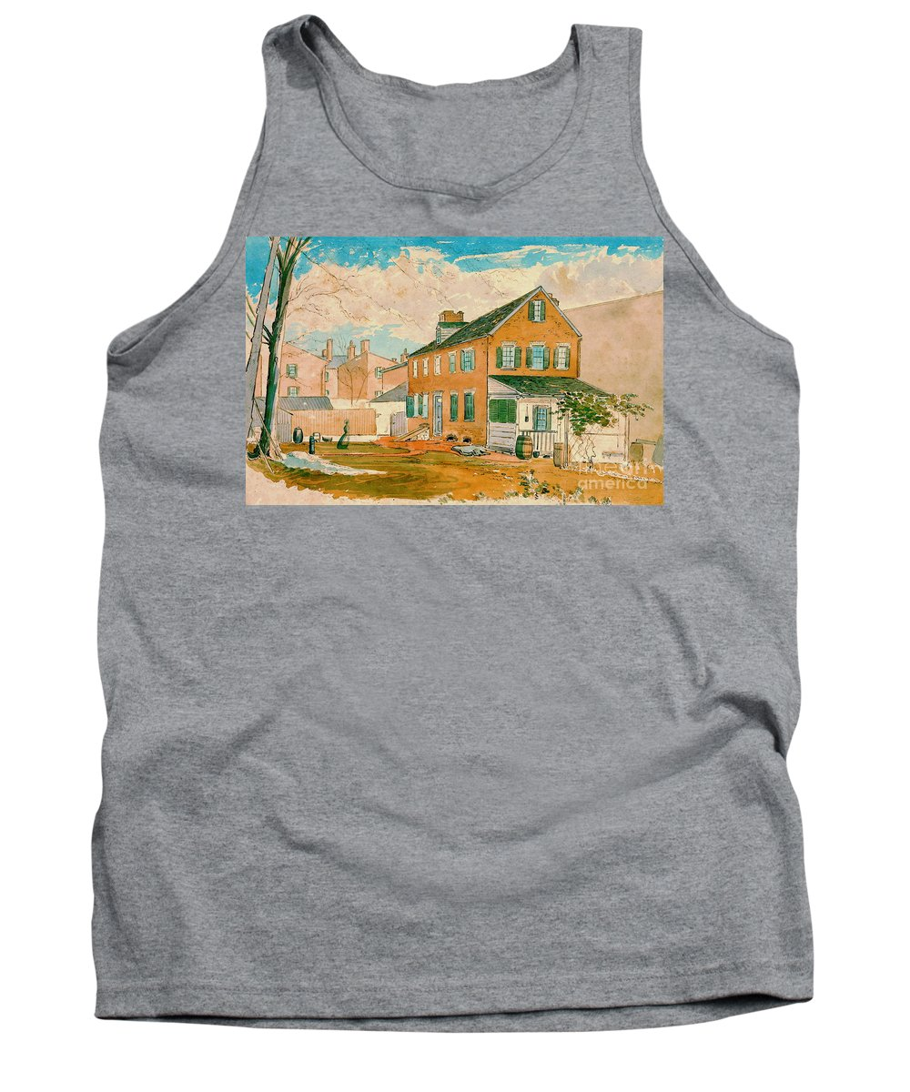 Washington D.c. Square 1874 Tank Top featuring the photograph Washington D.c. Square 1874 by Padre Art