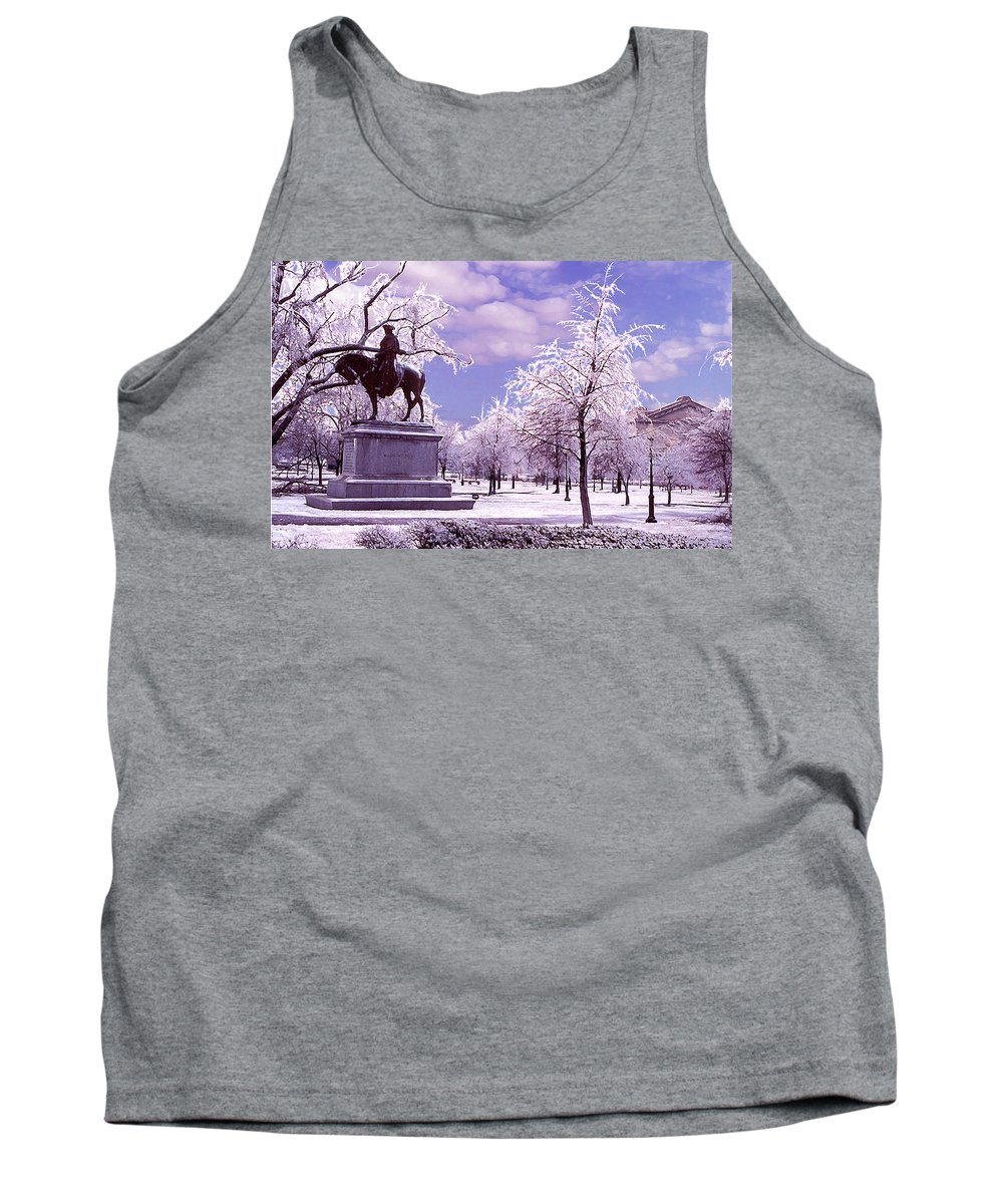 Landscape Tank Top featuring the photograph Washington Square Park by Steve Karol