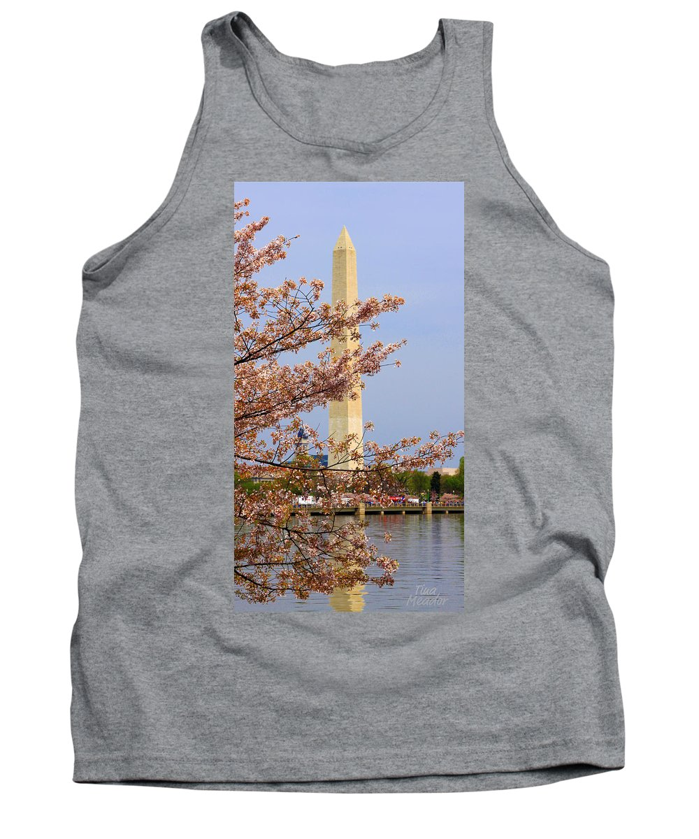 Washington Tank Top featuring the photograph Washinton Monument In Spring by Tina Meador