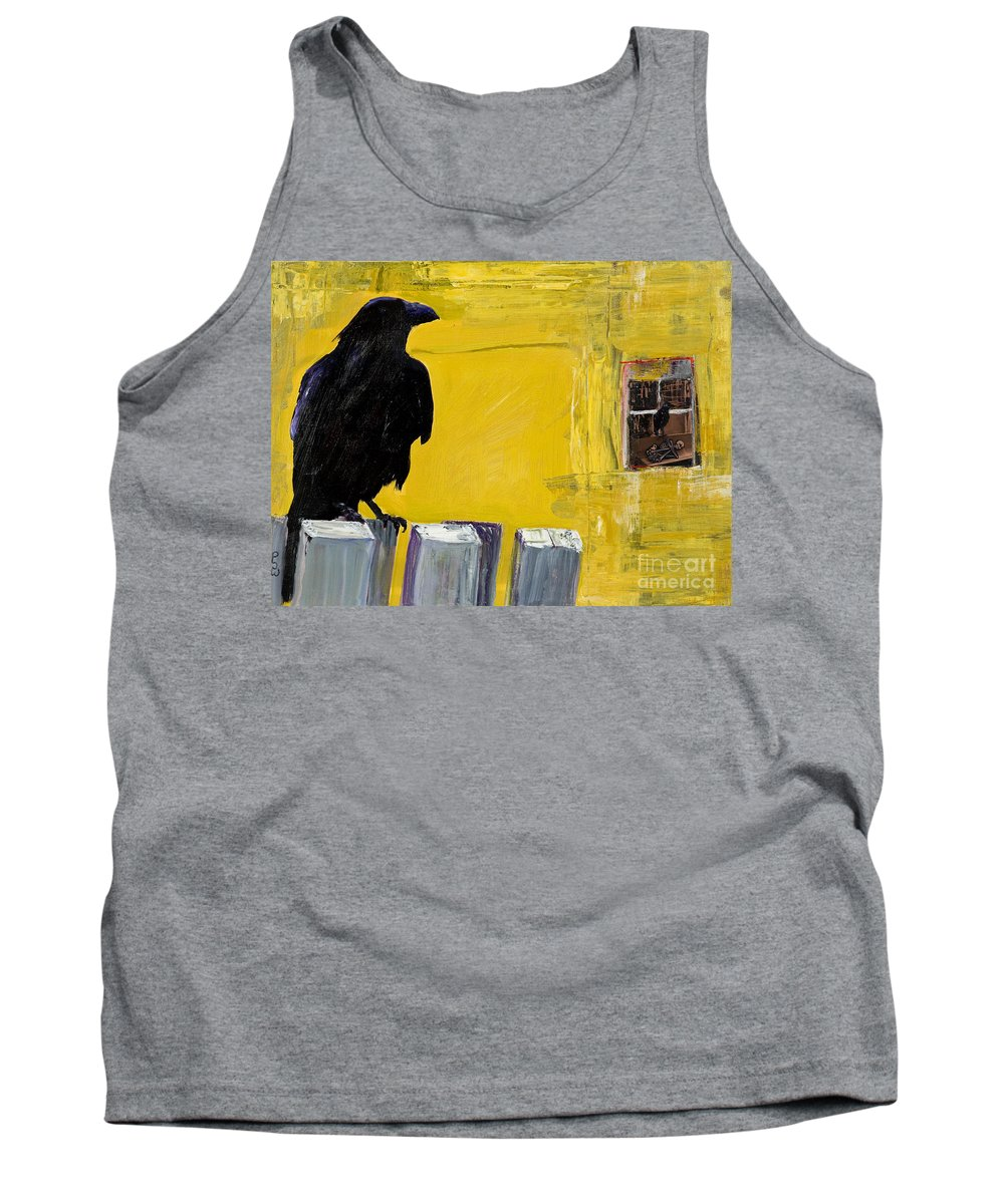 Pat Saunders-white Canvas Prints Tank Top featuring the painting Watching by Pat Saunders-White
