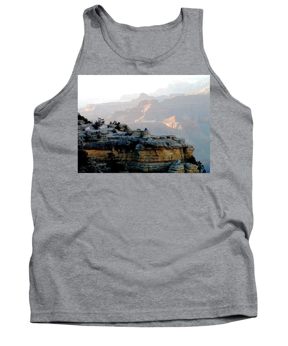 Grand Canyon Tank Top featuring the photograph Watching The Sunset by Barbara Angle