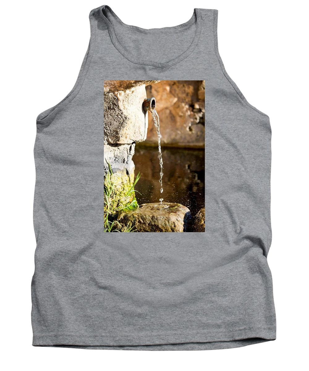 Water Tank Top featuring the photograph Water In Nature by Giacomo Maiorano