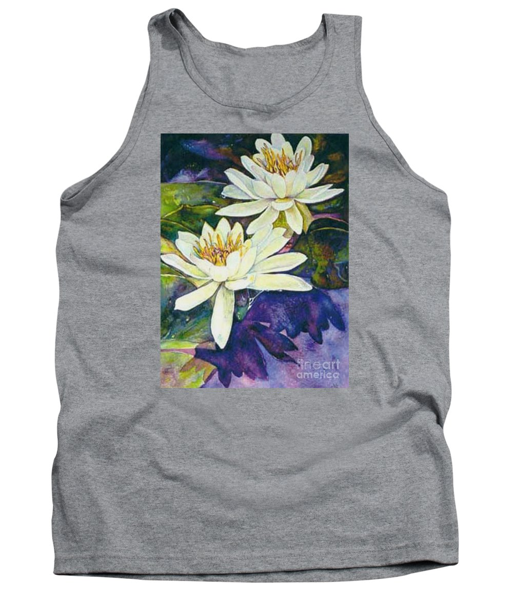 Flower Tank Top featuring the painting Water Lilies by Norma Boeckler