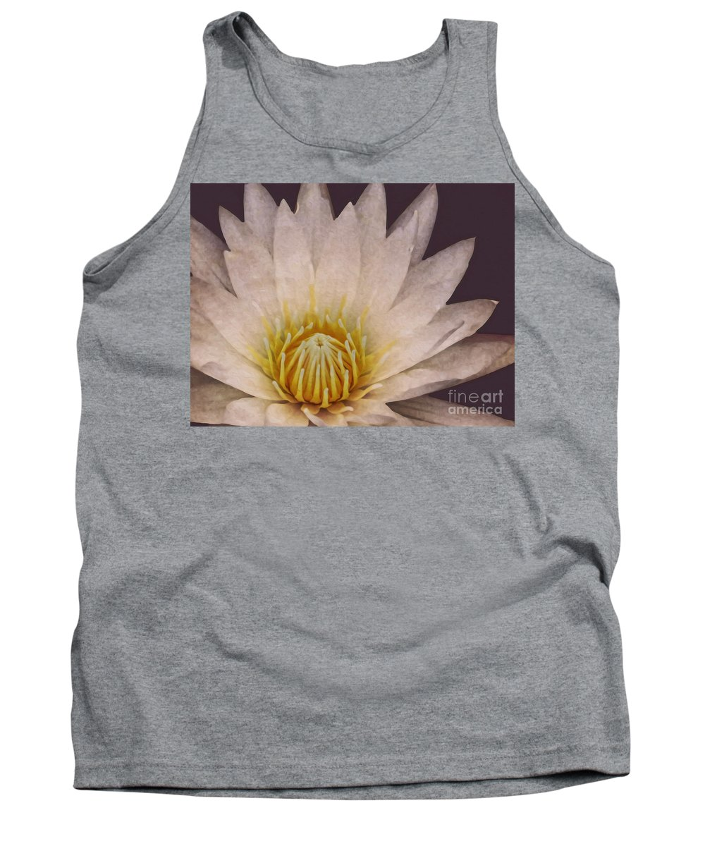 Lake Tank Top featuring the photograph Water Lily Digital Painting by Dawn Gari